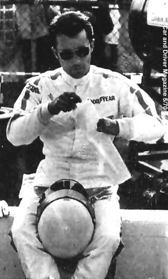 Mel prepares to do battle in the 1969 Indy 500