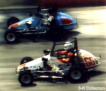 1985 USAC Midget Champion in Stan Lee's #66 VW powered racer in action at Winchester